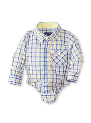47% OFF Beetle & Thread Kid's Gingham Shirtzie (Yellow)