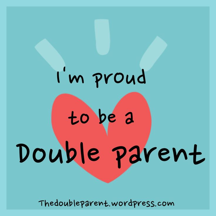 Double parents, not single parents. I like that perspective. Glass half full :-)