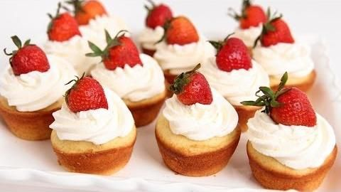 Strawberry Shortcake Cupcakes Recipe - Laura in the Kitchen - Internet Cooking Show Starring Laura Vitale