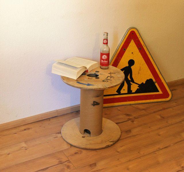 Couchtische - Tisch Industrial Kabeltrommel - ein Designerstück von Pfaennle bei DaWanda