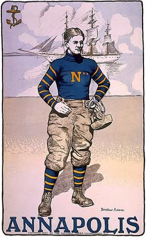 Annapolis Naval Academy Football Player Poster 1902