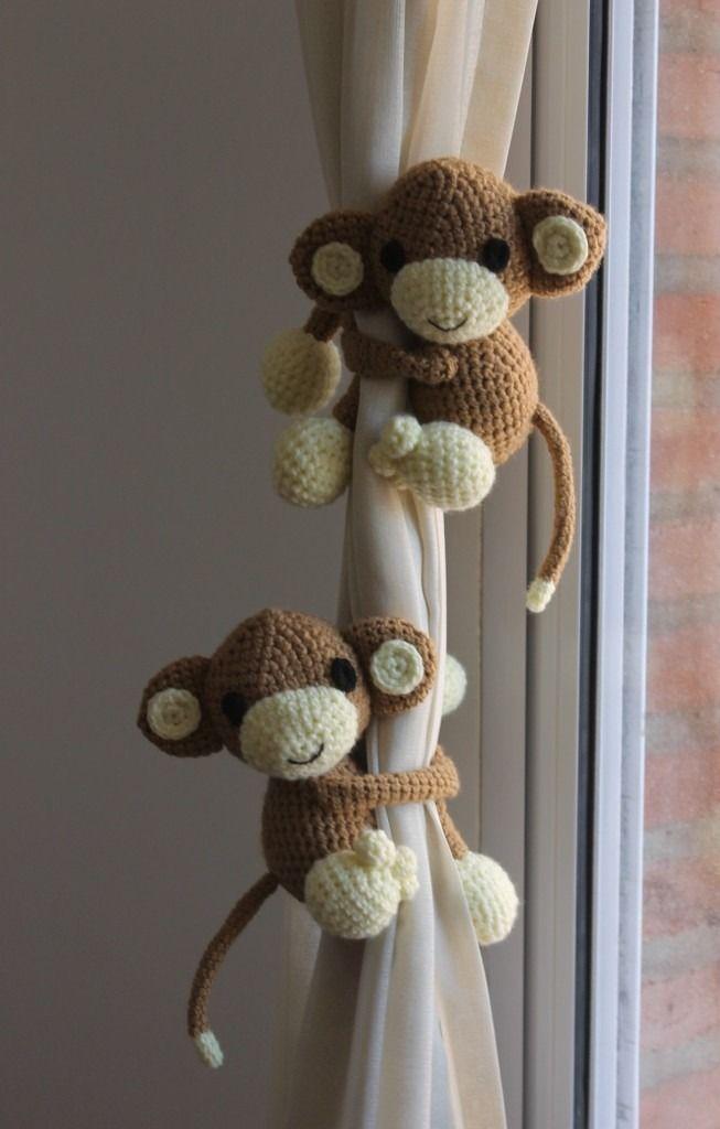 amigurumis, muñecos tejidos al crochet mono                              …