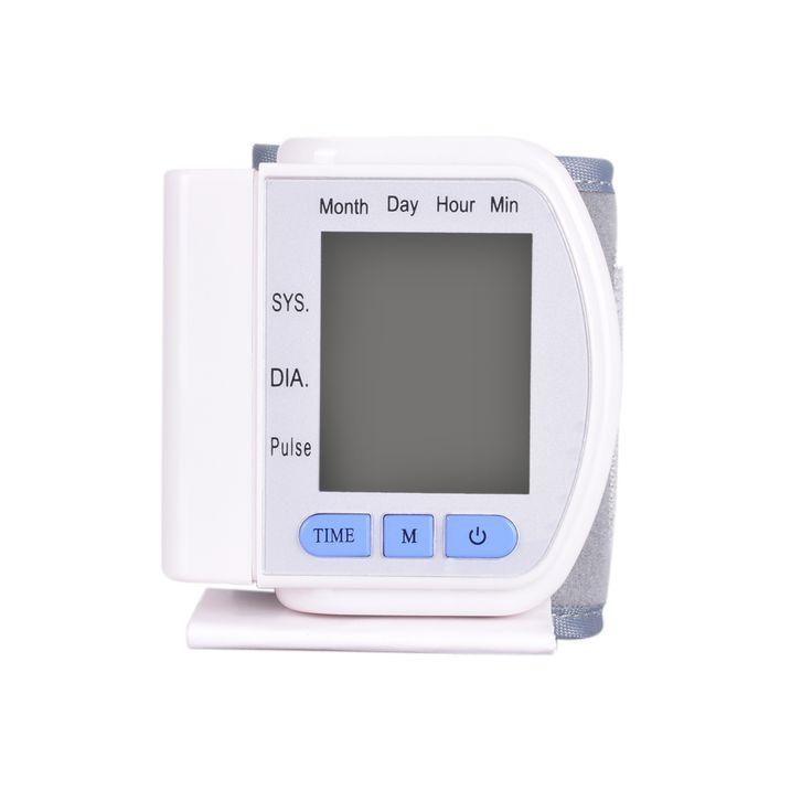 Lcd displayscreen rumah otomatis digital wrist tekanan darah pulse memantau jantung meter kocok sphygmomanometer and tonometer