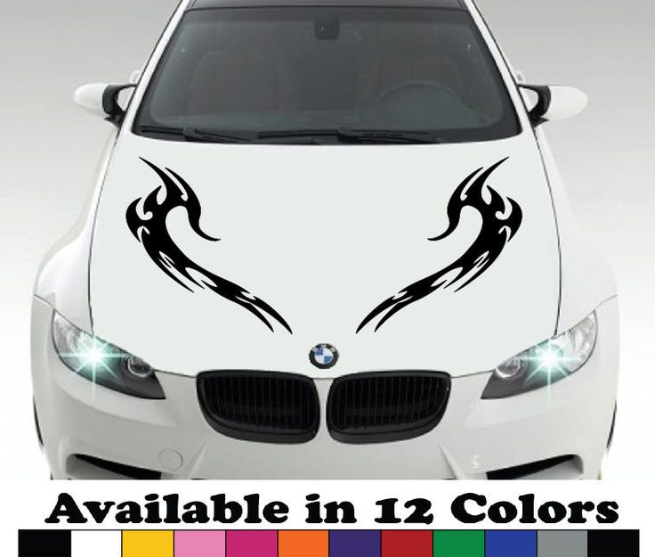 Best Home Car Decoration Decals Images On Pinterest Bumper - Custom vinyl decals for car hoodsfull color graphic vinyl sticker decal skull ghost fit car hood