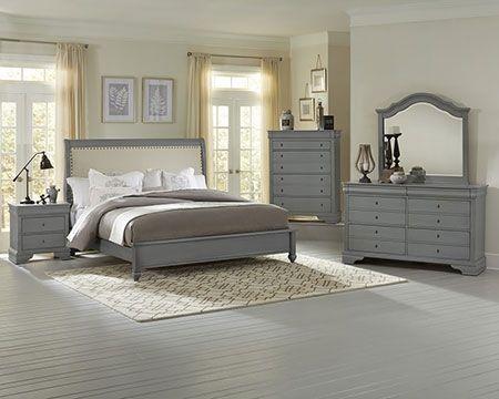 French Market Zinc Upholstered Bedroom
