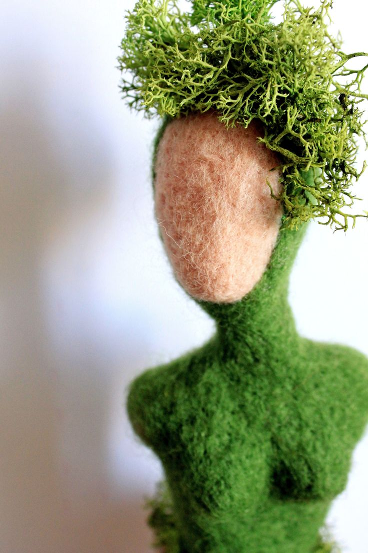 felted art doll