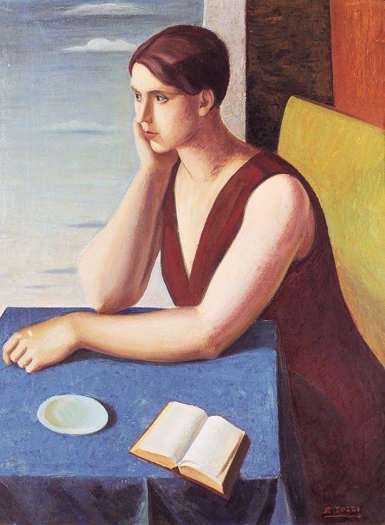 Mario Tozzi (1895–1979). Donna alla finestra (Ritratto di Marta) .(Portrait of Marta) . Date unknown.  Centro Studi Internazionale Lionello ...