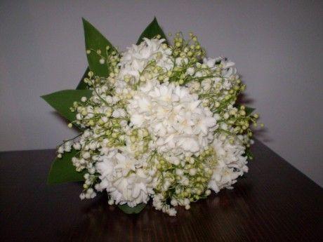 Květinový salón Sissi - Fotoalbum - Svatební květiny - Svatební kytice - svatební kytice bílé hyacinty a konvalinky