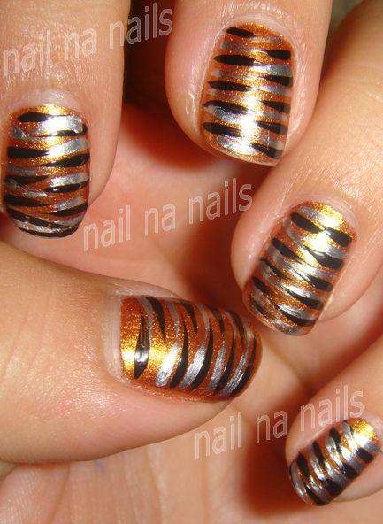 Bengals nails maybe - Best 25+ Tiger Stripe Nails Ideas On Pinterest Tiger Nails