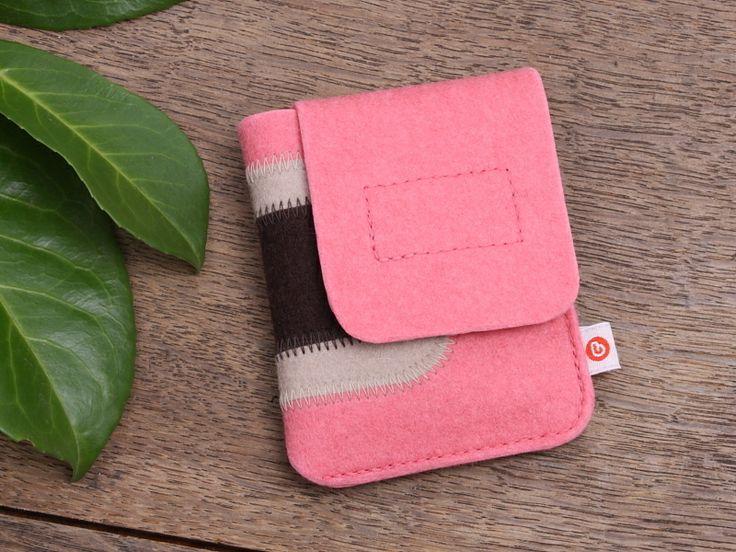 """iPod nano Tasche """"Rosa-Beige-Braun"""" von blandine taschen  auf DaWanda.com"""