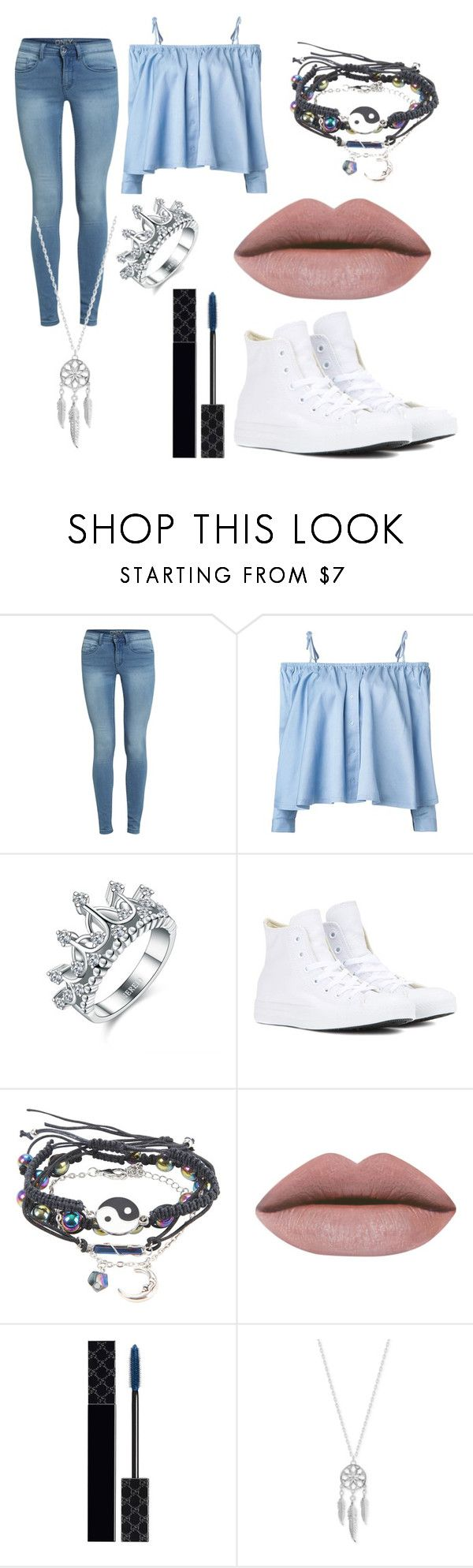 """Lila Kyoka Normal Attire"" by lauren-mossgotheridge ❤ liked on Polyvore featuring Sandy Liang, Converse, Gucci and Lucky Brand"