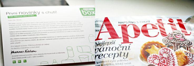 Součástí boxu byl také prosincový časopis Apetit s vánočními recepty
