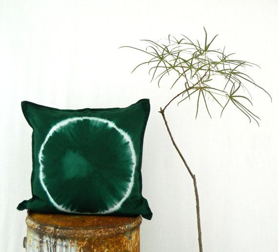 FOREST DWELLER . tie dye cushion cover . pillow . by bohemianbabes
