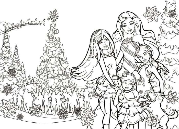 Barbie Christmas Coloring Pages Christmas Barbie Barbie Coloring Pages Barbie Coloring