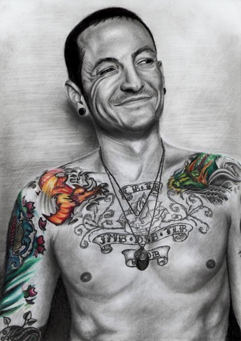 Image result for chester bennington tattoos
