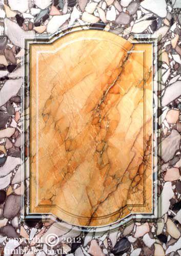 faux marble trompe l'oeil panel by Tim Bizley