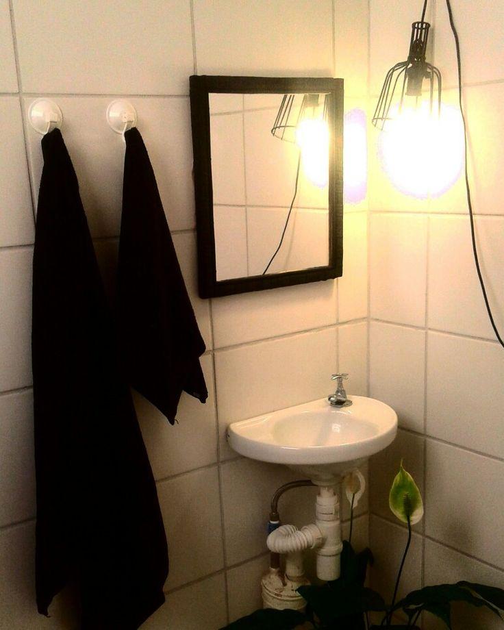 Decoração do banheiro temporária simples e aconchegante (Diy)  301Home  Pin -> Decoracao Banheiro Diy