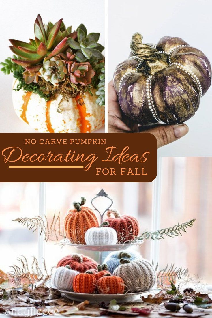 No Carve Pumpkin Decorating Ideas for Fall | DIY Craft Projects ...