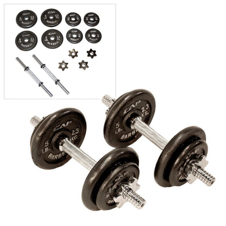 Amazon.com : CAP Barbell 40-pound Adjustable Dumbbell Set with Case : Weights : Sports & Outdoors