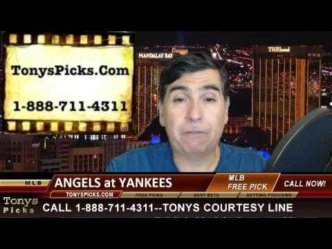LA Angels vs. New York Yankees MLB Betting Line Odds Pick Prediction Pre...