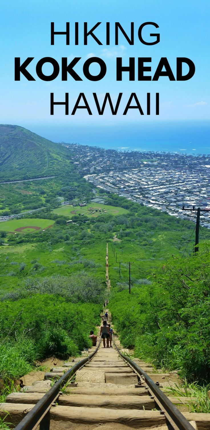 Koko Head Hike, crater railway trail. Best Oahu hikes: US hiking trails in Hawaii, tons of hikes on Oahu for Hawaii vacation! Doing best hiking trails on Oahu also gives you other things to do with nearby beaches for swimming, snorkeling! List of planning tips for when in Waikiki or Honolulu and take bus or with rental car to other trails. Outdoor travel destinations for bucket list for budget adventures! Put outfits on list of what to pack, what to wear for Hawaii packing…