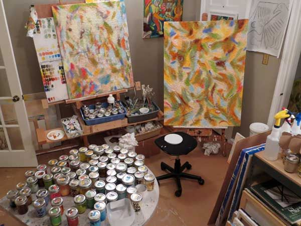 How to layout a home art studio