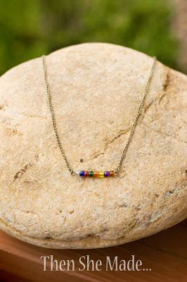 Then she made...: DIY Simple Necklace Tutorial using YW value colors