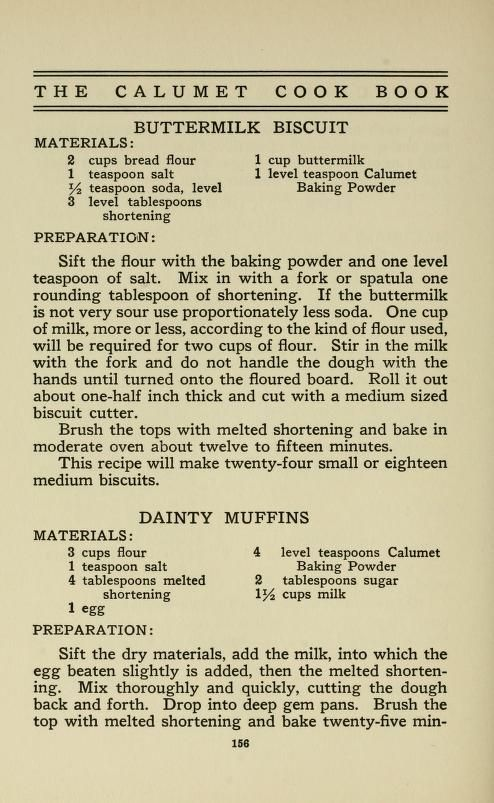 The Calumet cook book BUTTERMILK BISCUITS