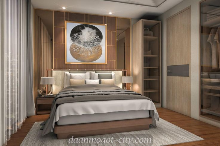 Design interior master bedroom Daan Mogot City apartment