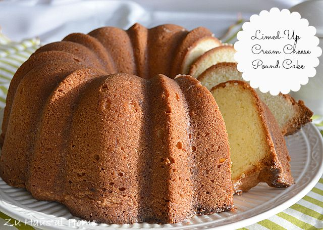 Limed-Up Cream Cheese Pound Cake