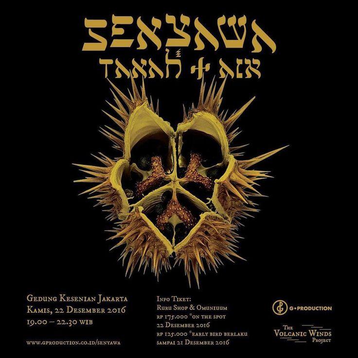'Tanah + Air' Gedung Kesenian Jakarta 22 Des! Juga tersedia album terbaru 'PUNCAK' dari Cejero label (limited edition) #senyawa_music #SenyawaJKT