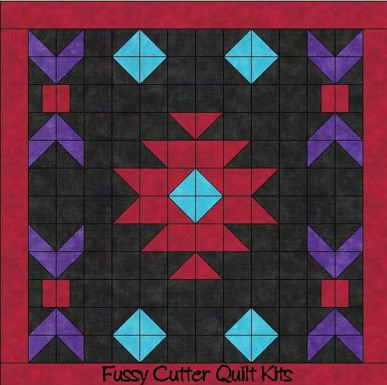 Navajo Indian Southwest Design Easy to Make Pre-Cut Fabric Quilt Block Wall Kit