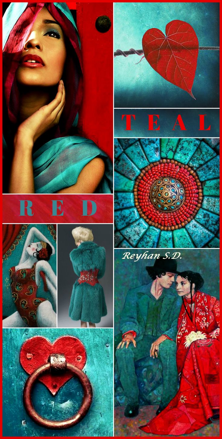 '' Teal & Red '' by Reyhan S.D