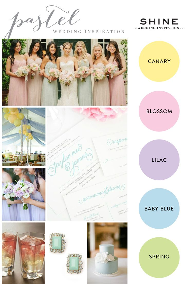 Pastel Wedding Inspiration - http://www.shineweddinginvitations.com/weddings/wedding-invitations