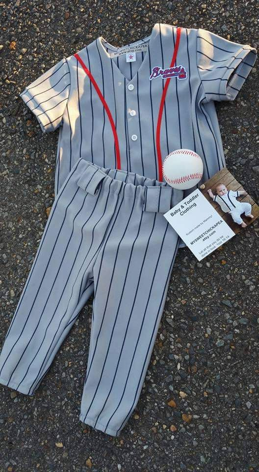 Boys Outfit Baseball Uniform Pinstripe by MYSWEETCHICKAPEA on Etsy