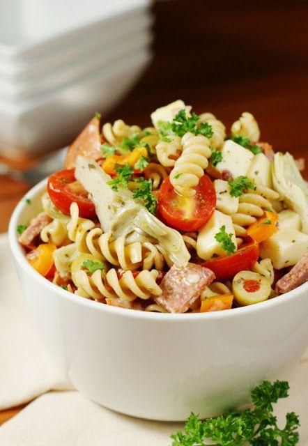 Chock full of antipasto favorites, this no-mayo Antipasto Pasta Salad is one eye-catching, crowd-pleasing summer side.