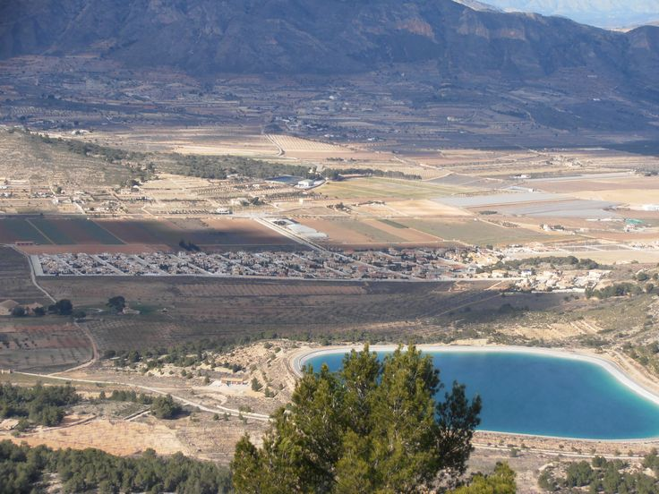 Looking over the Hondon Reservoir and Urb. Montanósa, Hondon Valley.