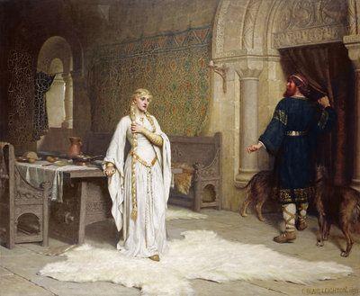 Lady Godiva, 1892 by Edmund Blair Leighton - print
