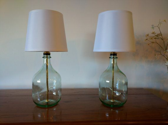 Table Lamp Bedside Lamps Small Table Lamps Bottle Lamp Glass Table Lamp Set Of 2 Table Lamps Bedroom Lamp Modern Decor Glass Bottle Lamp