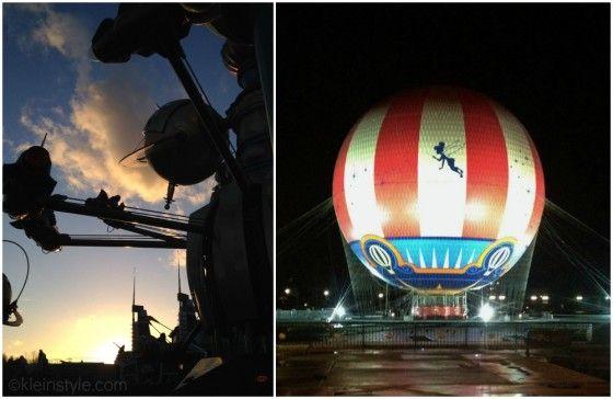 Disneyland Paris night is falling orbitron balloon pic ©kleinstyle.com Tipps für einen entspannten Trip nach Disneyland mit den Kindern
