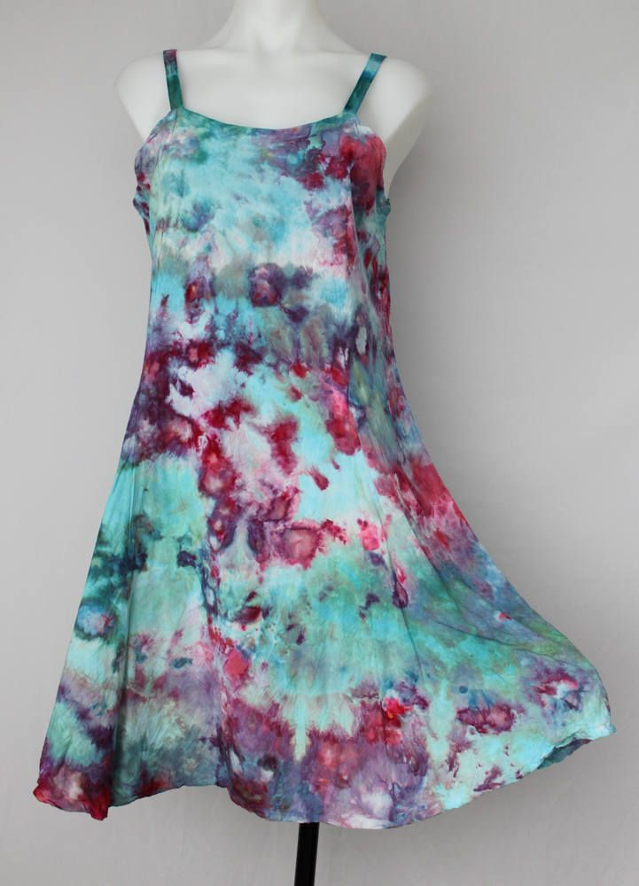 $70 - Tie Dye sun dress Ice Dye boho indie festival fashion style spring summer dress Size Small - Cotton Candy crinkle- Read ITEM DETAILS by ASPOONFULOFCOLORS on Etsy Find this item on https://www.etsy.com/shop/ASPOONFULOFCOLORS?ref=hdr_shop_menu