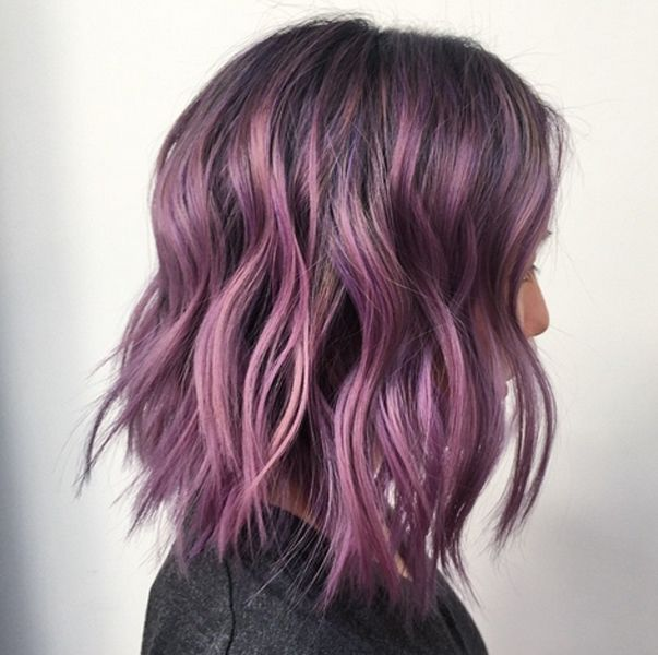 Purple balayage