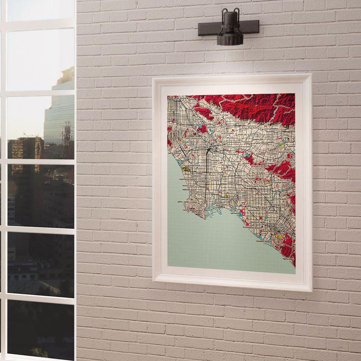 Washington Dc Popout Map%0A Los Angeles  City Map Art