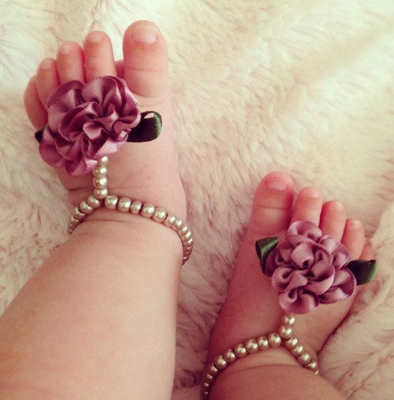 Baby+barefoot+sandals+baby+shoes+baby+jewelry+by+Aupetitpied,+$22.00