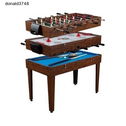 Multi 3 IN 1 Game Room Table Foosball Soccer Pool AirHockey Entertainment Arcade