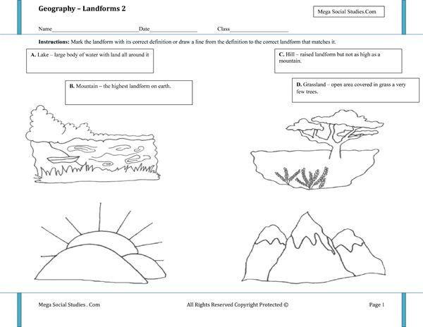 55+ 5th Grade Landforms Worksheets