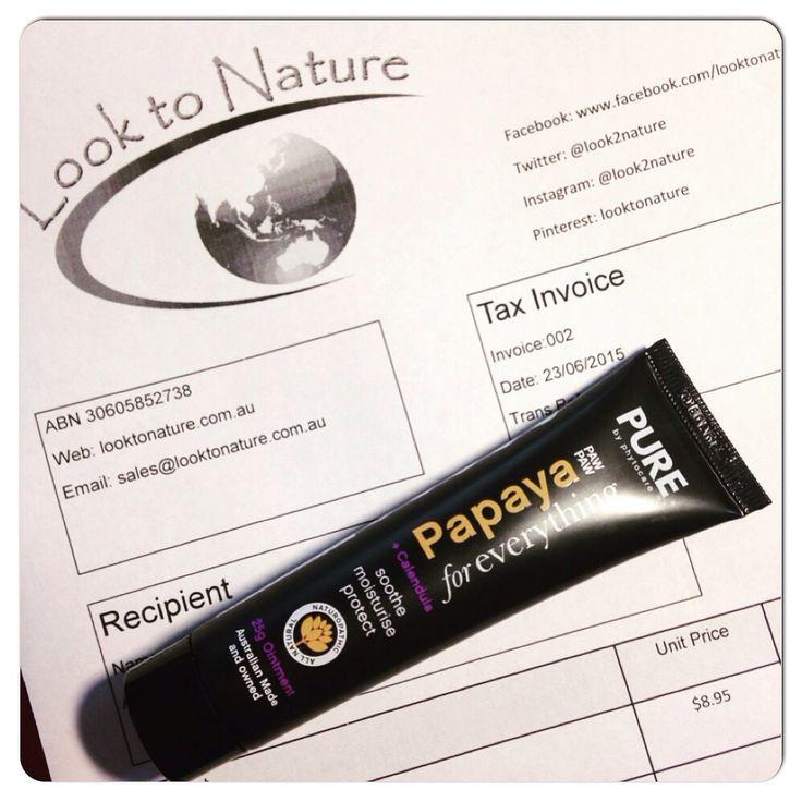 Natural Papaya ointment with Calendula. So many uses. http://looktonature.com.au/product/pure-papaya-for-everything-calendula-25g/