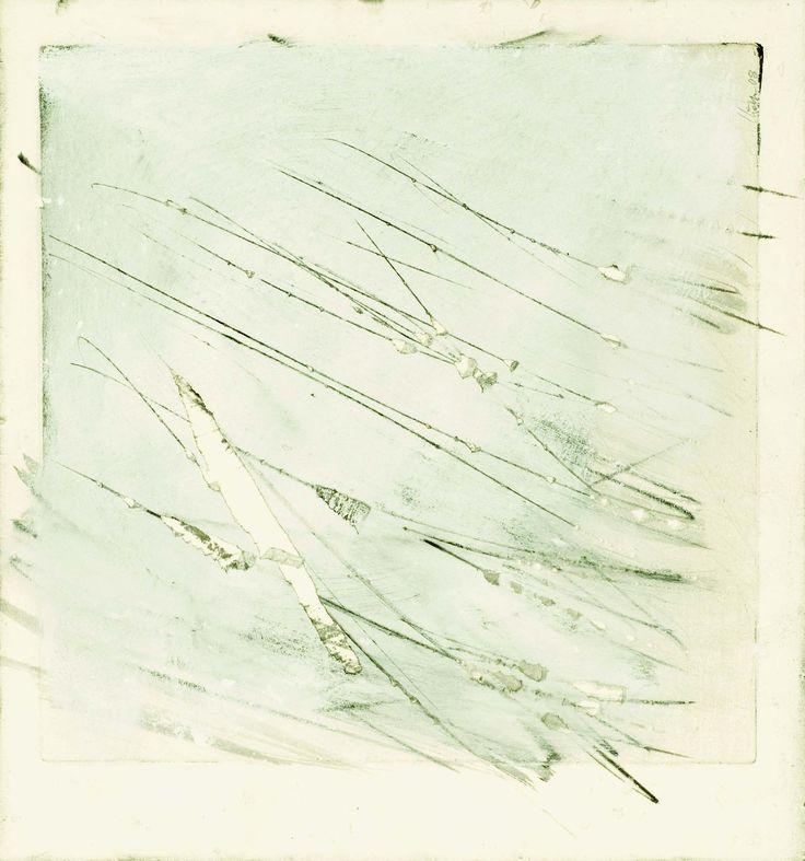 Strazza Guido(Italian, b.1922) Segno contro segno 2008 tempera, grafite e strappo su cartoncino