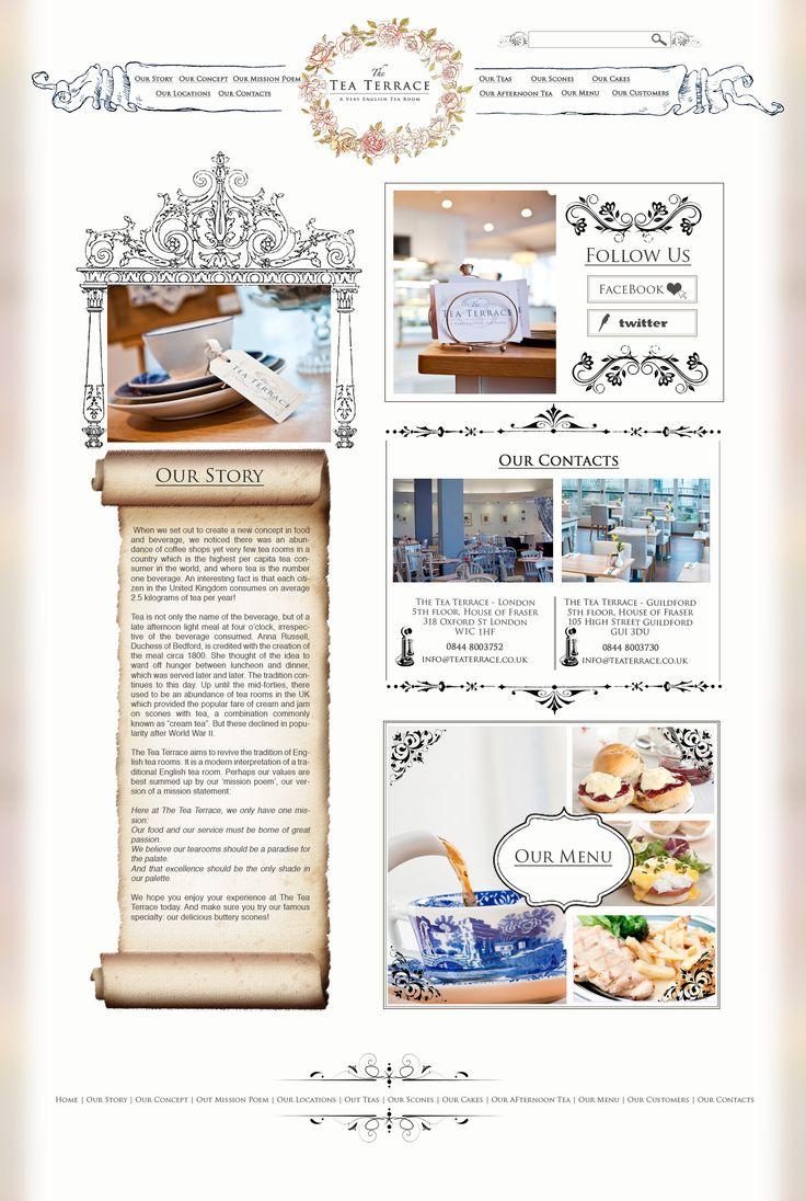 web design for a vintage tearoom