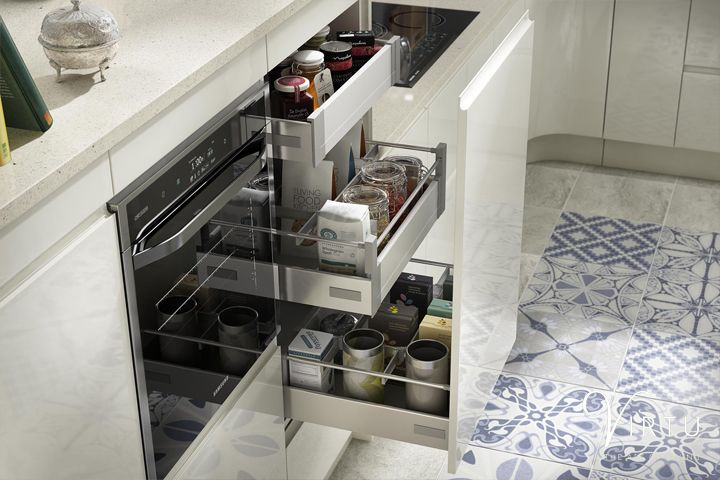 Our Internal Drawer Boxes are perfect for that little bit of extra storage within your Integrated Handleless NEO kitchen units. Find out more about this kitchen at http://www.virtukitchens.uk/expression-neo-ivory/